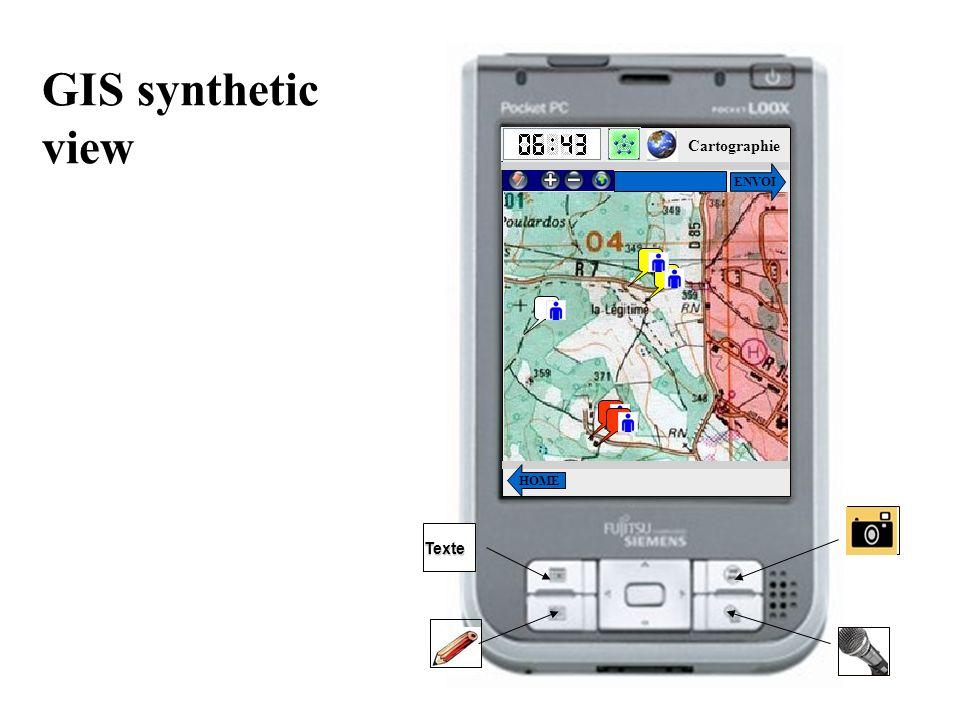 GIS synthetic view HOME Cartographie ENVOI Texte