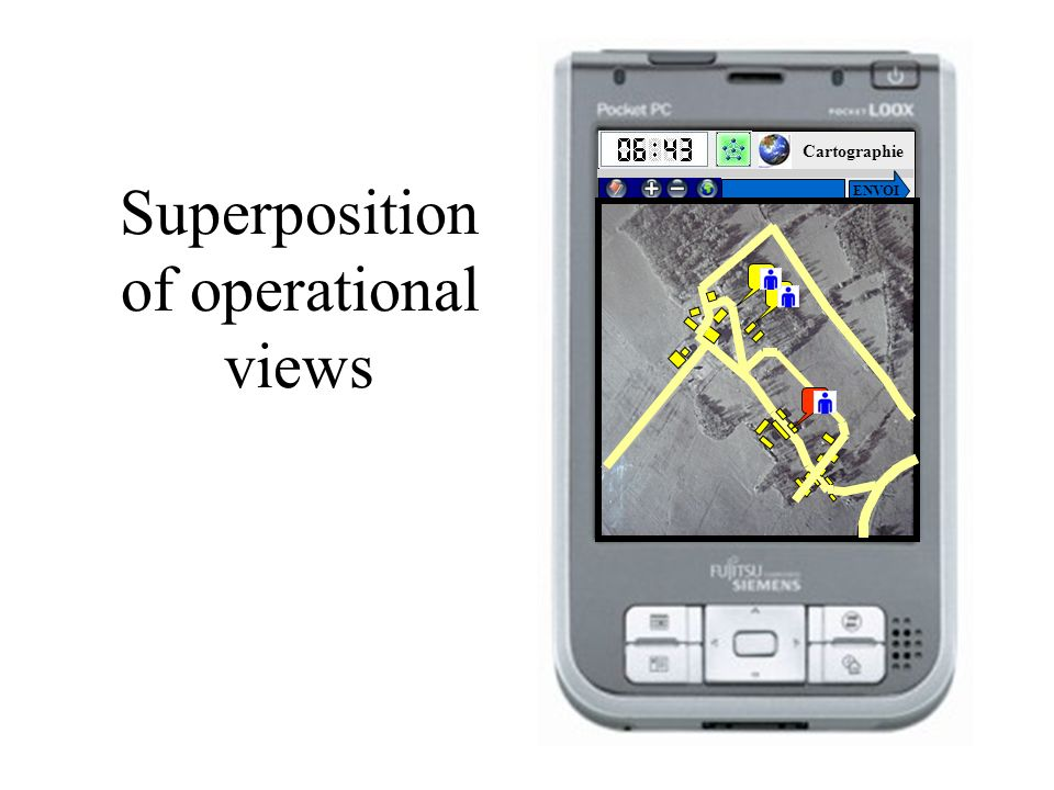 Superposition of operational views HOME Cartographie ENVOI