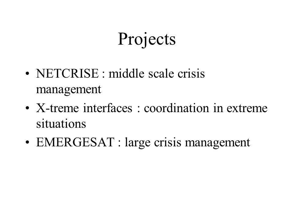 NETCRISE Middle scale crisis management