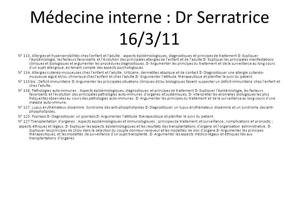 Pneumologie: Dr Escarguel 23/3/11 N° 115.