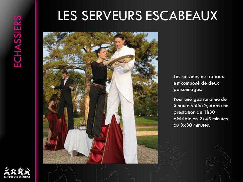 LES SERVEURS ESCABEAUX Les serveurs escabeaux est composé de deux personnages.