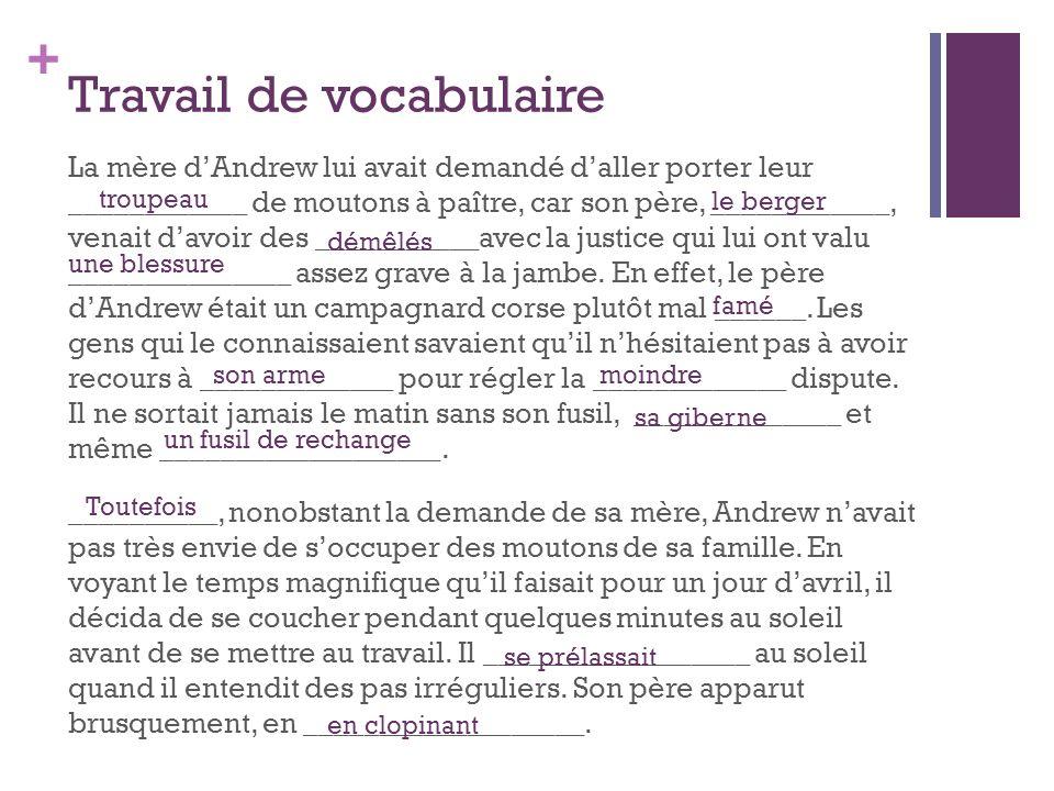 + Vocabulaire