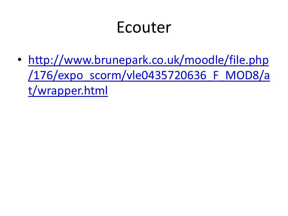 Ecouter http://www.brunepark.co.uk/moodle/file.php /176/expo_scorm/vle0435720636_F_MOD8/a t/wrapper.html http://www.brunepark.co.uk/moodle/file.php /176/expo_scorm/vle0435720636_F_MOD8/a t/wrapper.html