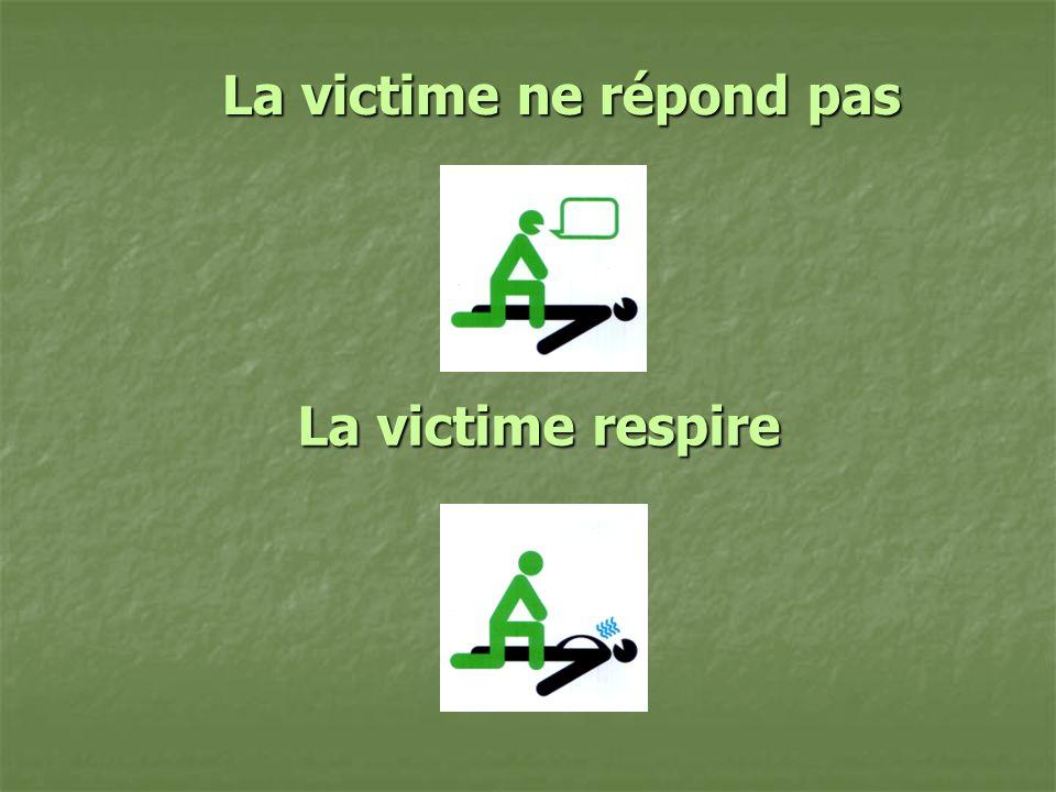 La victime ne répond pas La victime respire