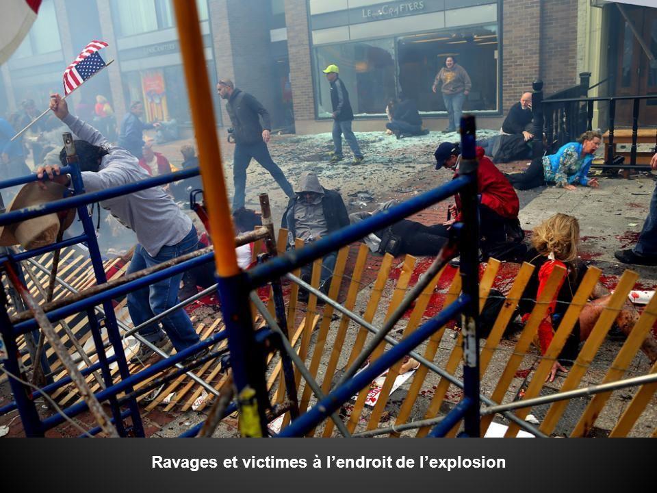 Ravages et victimes à lendroit de lexplosion