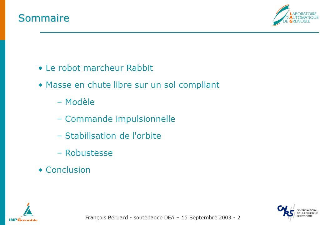 François Béruard - soutenance DEA – 15 Septembre 2003 - 23 Stabilisation asymptotique PI, théorie Proportionnel - Intégrateur : (25) (26) (27) avec et soit (28)