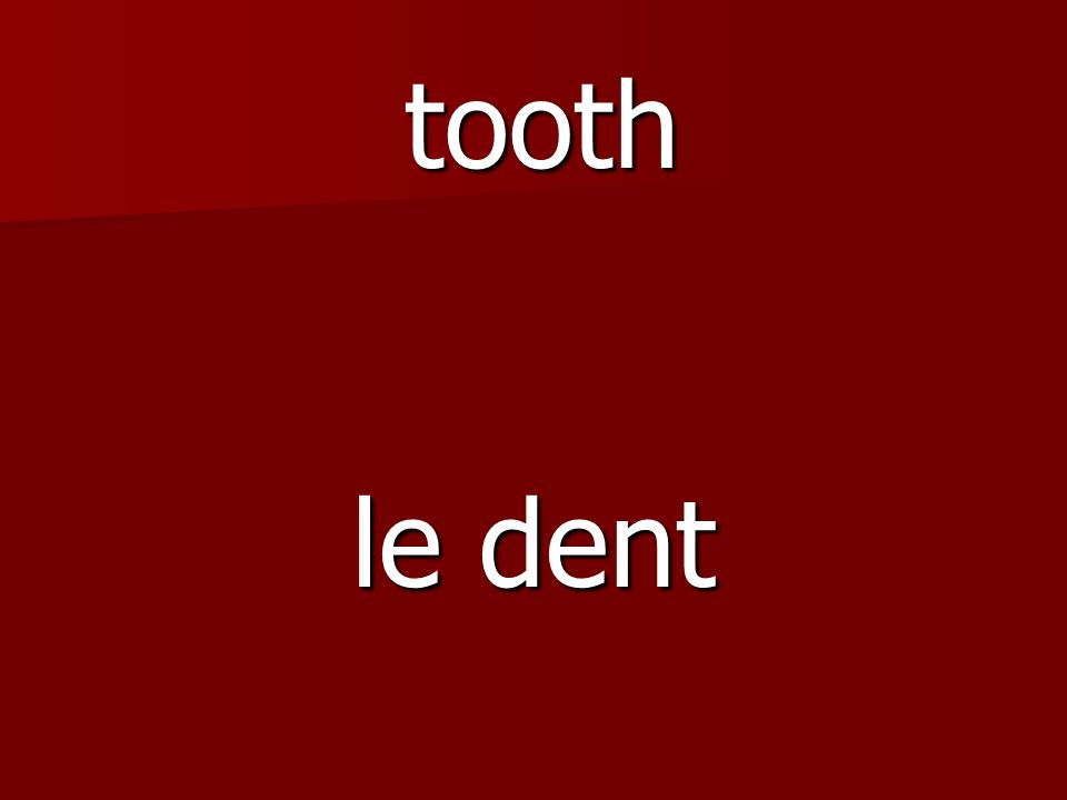 le dent tooth