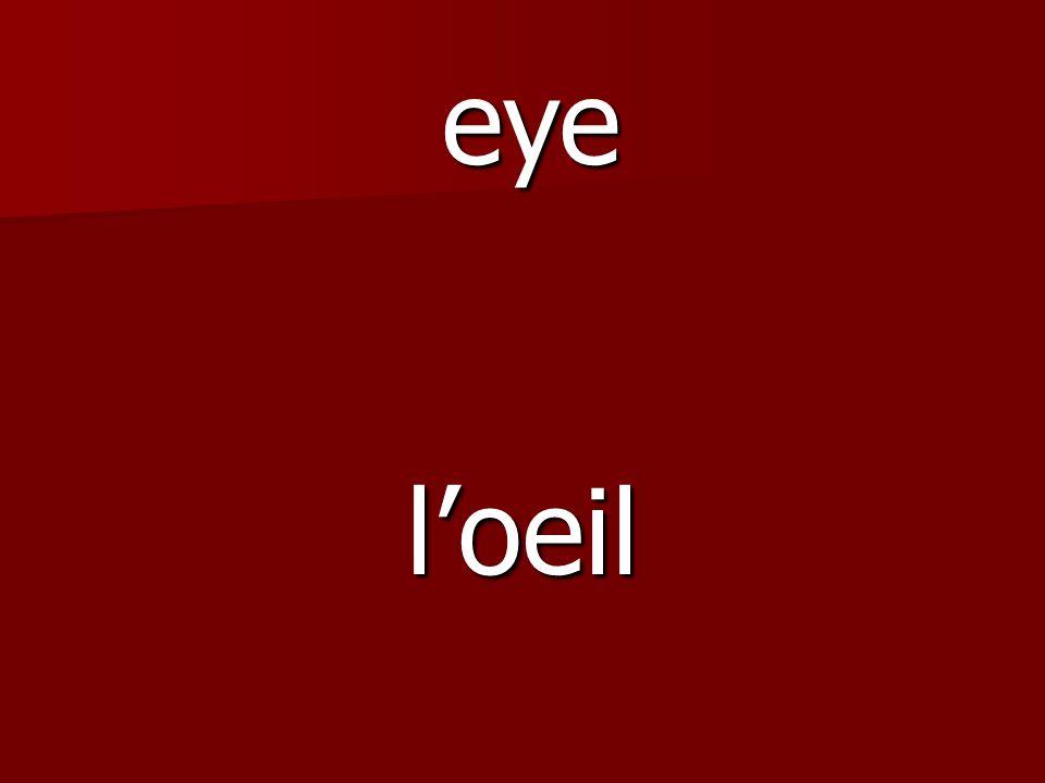 loeil eye