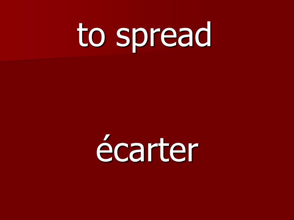 étirer to stretch