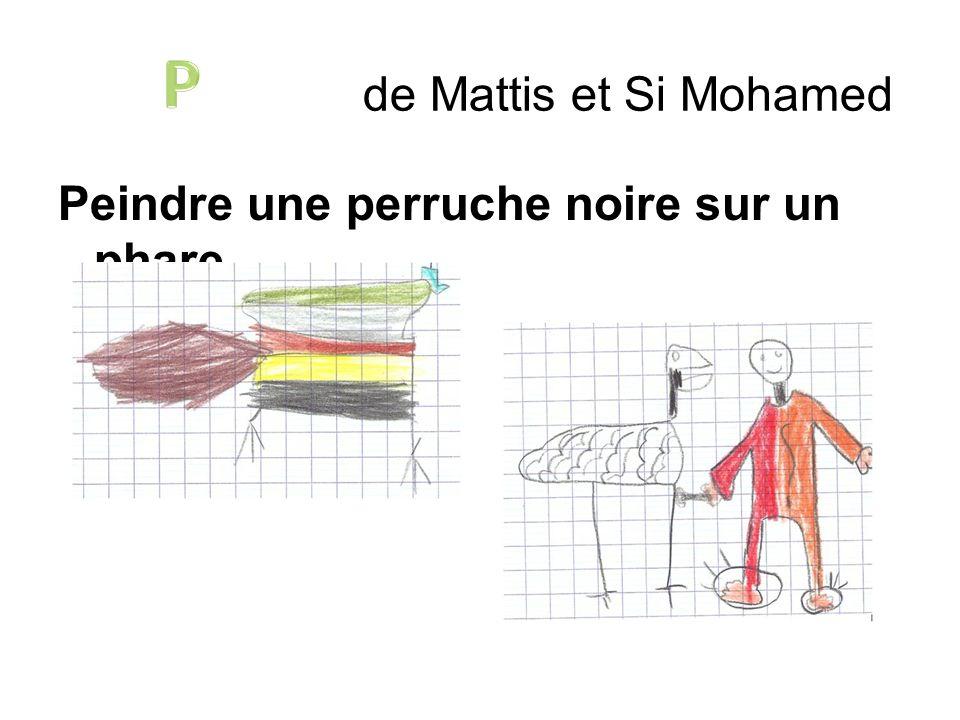 Peindre une perruche noire sur un phare. de Mattis et Si Mohamed