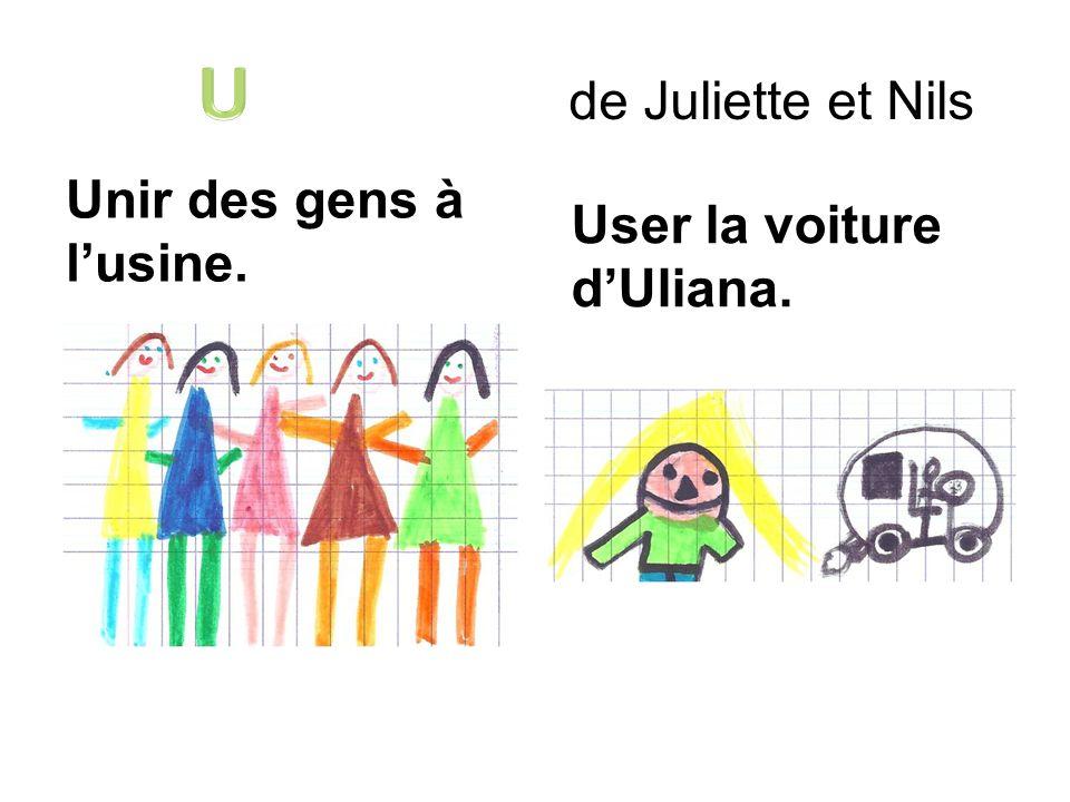 de Juliette et Nils Unir des gens à lusine. User la voiture dUliana.