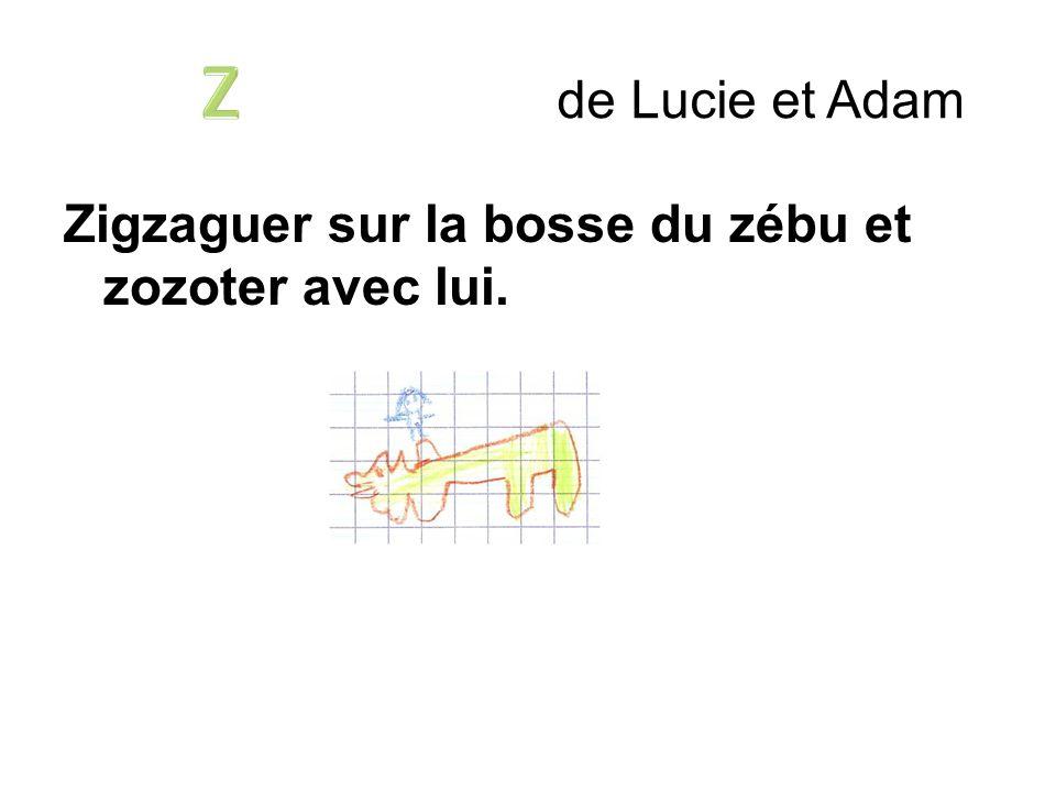 Zigzaguer sur la bosse du zébu et zozoter avec lui. de Lucie et Adam