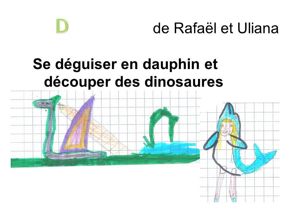 de Rafaël et Uliana Se déguiser en dauphin et découper des dinosaures dodus avec les doigts.