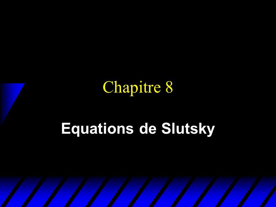 Effet Slutsky pour un bien inférieur x2x2 x1x1 x 2 x 1