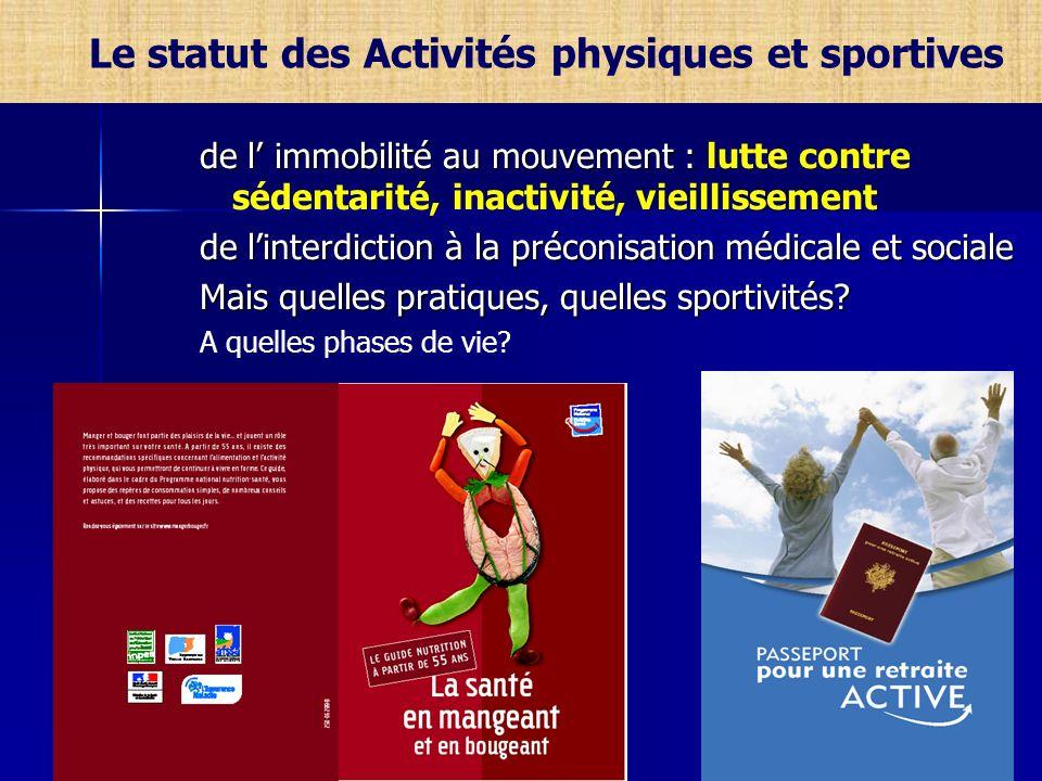 de l immobilité au mouvement : de l immobilité au mouvement : lutte contre sédentarité, inactivité, vieillissement de linterdiction à la préconisation