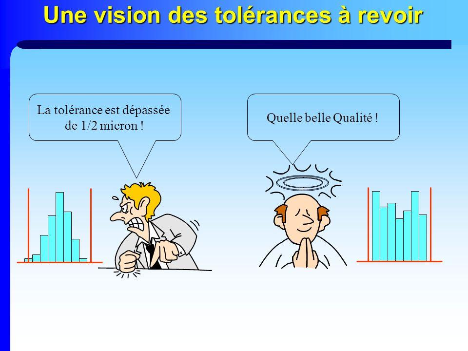Une vision des tolérances à revoir La tolérance est dépassée de 1/2 micron ! Quelle belle Qualité !