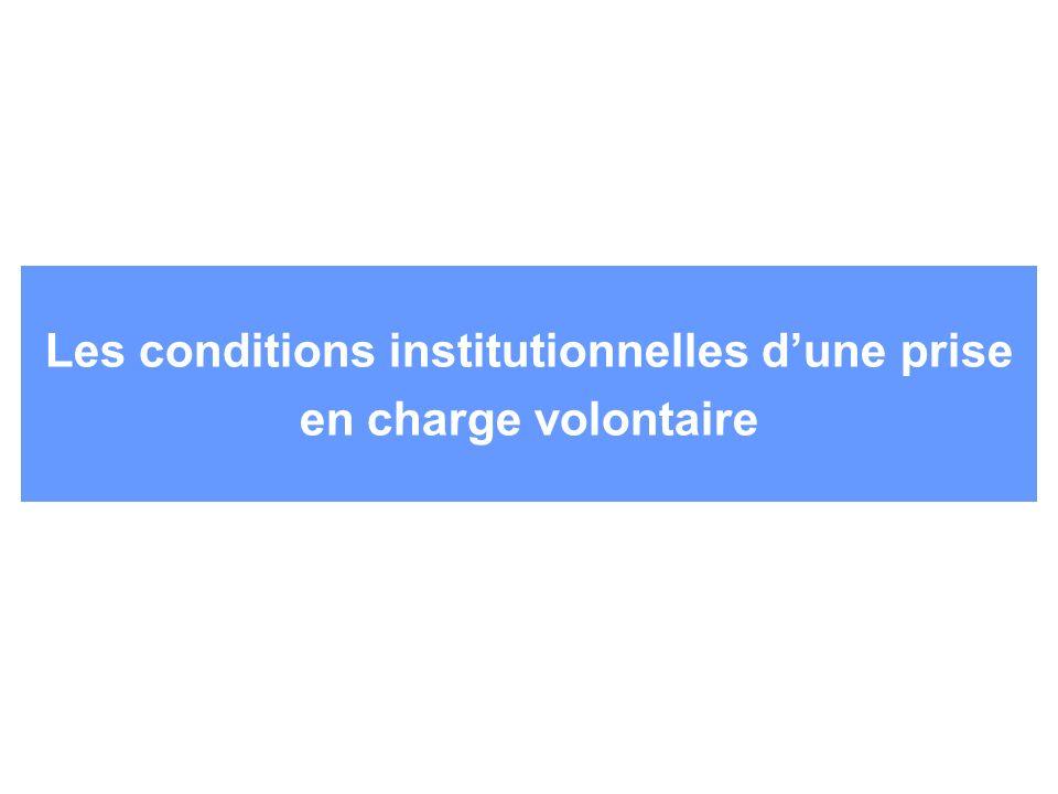 Les conditions institutionnelles dune prise en charge volontaire