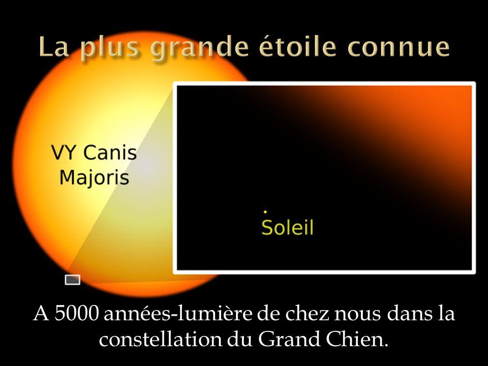 A 5000 années-lumière de chez nous dans la constellation du Grand Chien.