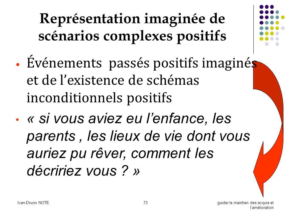 Ivan-Druon NOTE73guider le maintien des acquis et l'amélioration Représentation imaginée de scénarios complexes positifs Événements passés positifs im