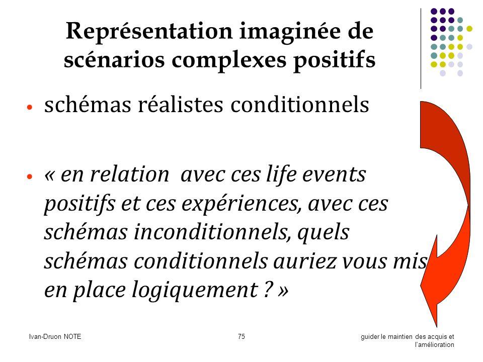 Ivan-Druon NOTE75guider le maintien des acquis et l'amélioration Représentation imaginée de scénarios complexes positifs schémas réalistes conditionne