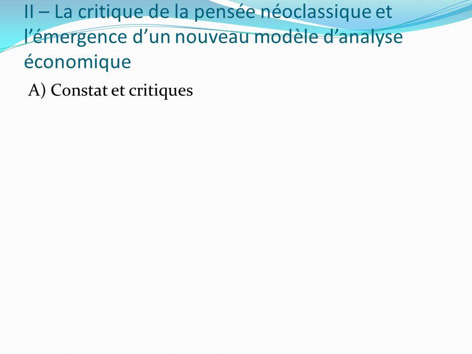A) Constat et critiques
