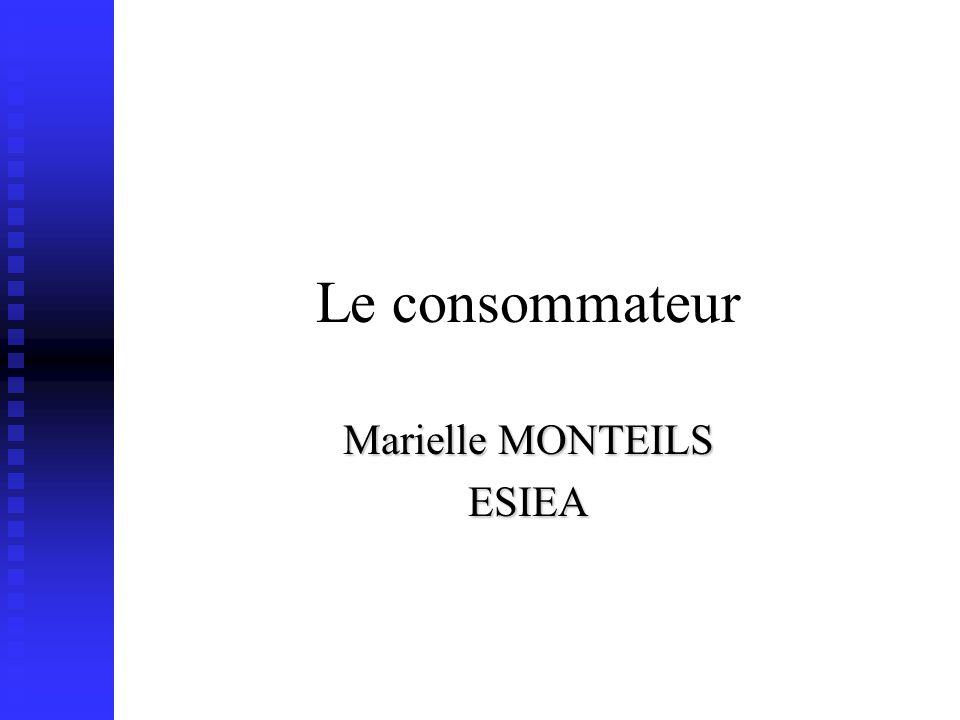 Le consommateur Marielle MONTEILS ESIEA