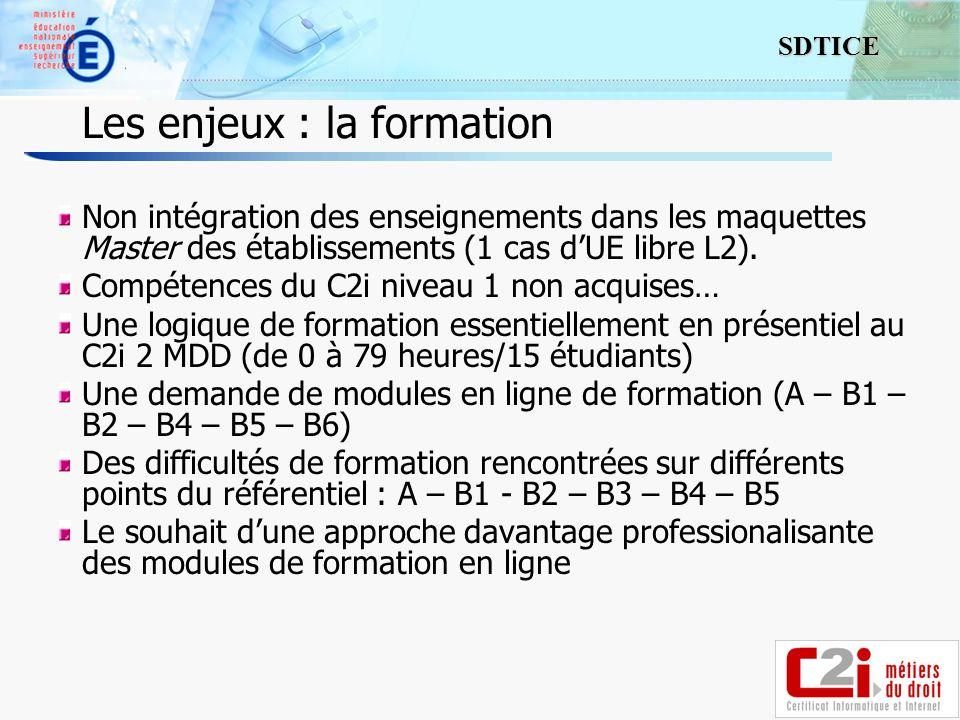 14 SDTICE Non intégration des enseignements dans les maquettes Master des établissements (1 cas dUE libre L2).