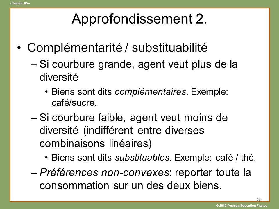 ® 2010 Pearson Education France Chapitre 05 – Approfondissement 2.