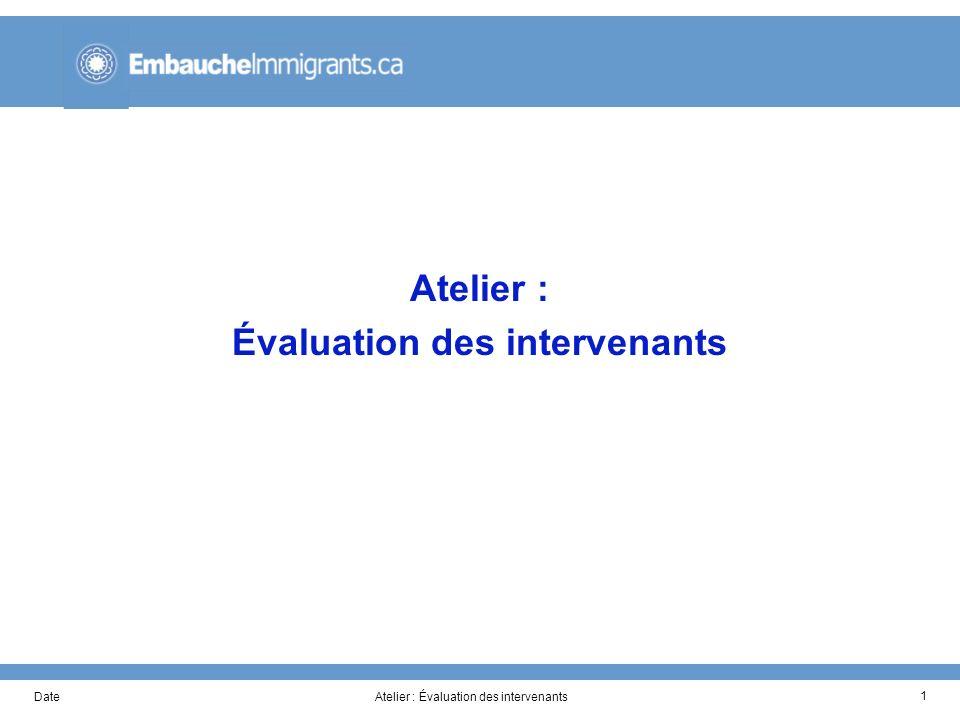 DateAtelier : Évaluation des intervenants 1
