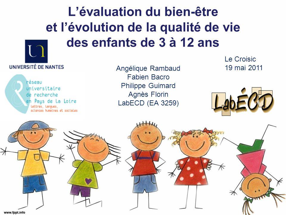 Pourquoi sintéresser à la qualité de vie (QDV) des enfants.