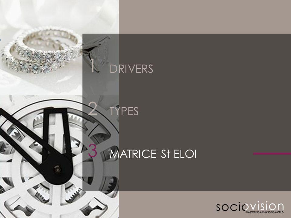 © SOCIOVISON 2011-2012 18 2 3 DRIVERS TYPES MATRICE St ELOI 1