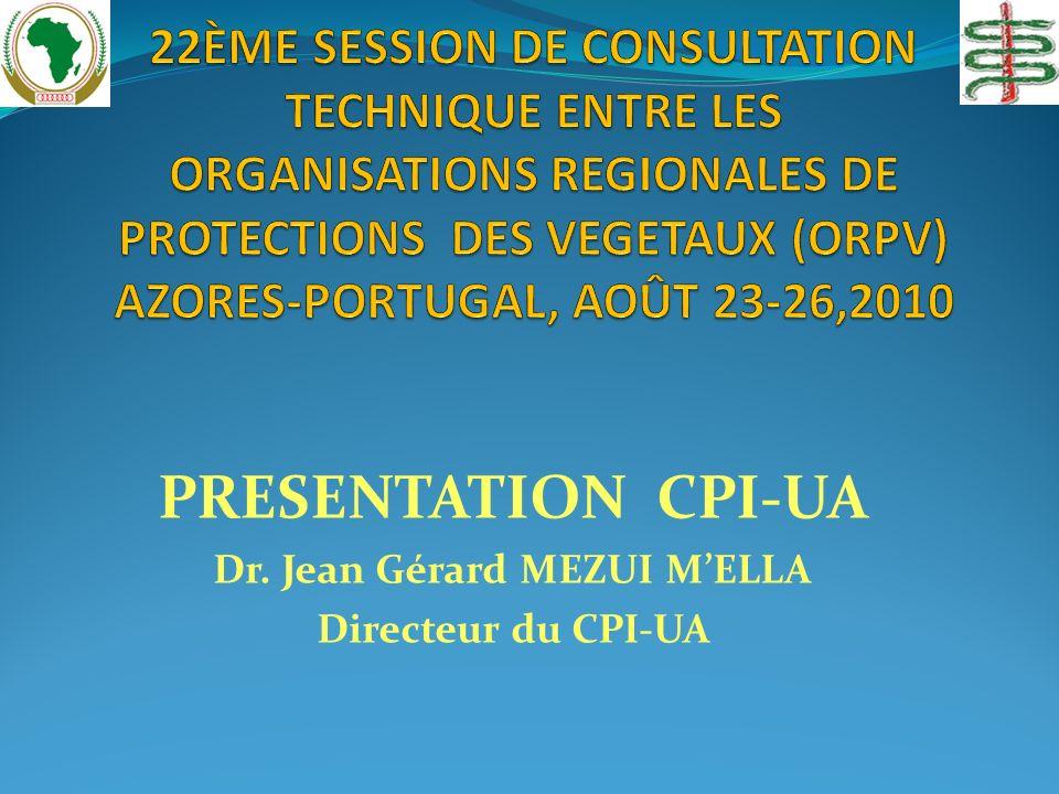 PRESENTATION CPI-UA Dr. Jean Gérard MEZUI MELLA Directeur du CPI-UA