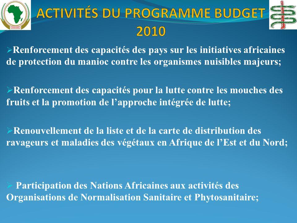 Renforcement des capacités des pays sur les initiatives africaines de protection du manioc contre les organismes nuisibles majeurs; Renforcement des c