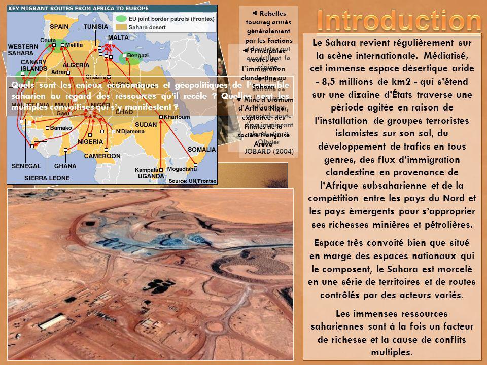 Le Sahara revient régulièrement sur la scène internationale. Médiatisé, cet immense espace désertique aride - 8,5 millions de km2 - qui sétend sur une