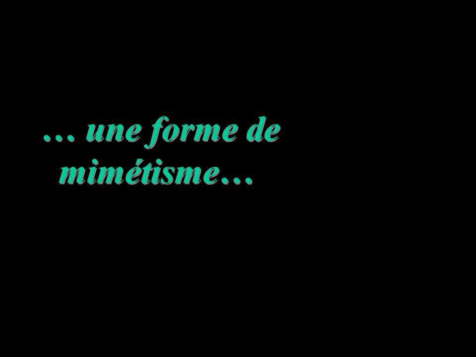 … une forme de mimétisme…