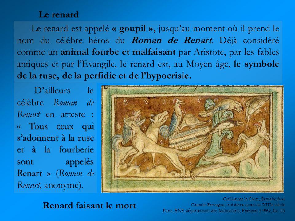 Le renard est appelé « goupil », jusquau moment où il prend le nom du célèbre héros du Roman de Renart. Déjà considéré comme un animal fourbe et malfa
