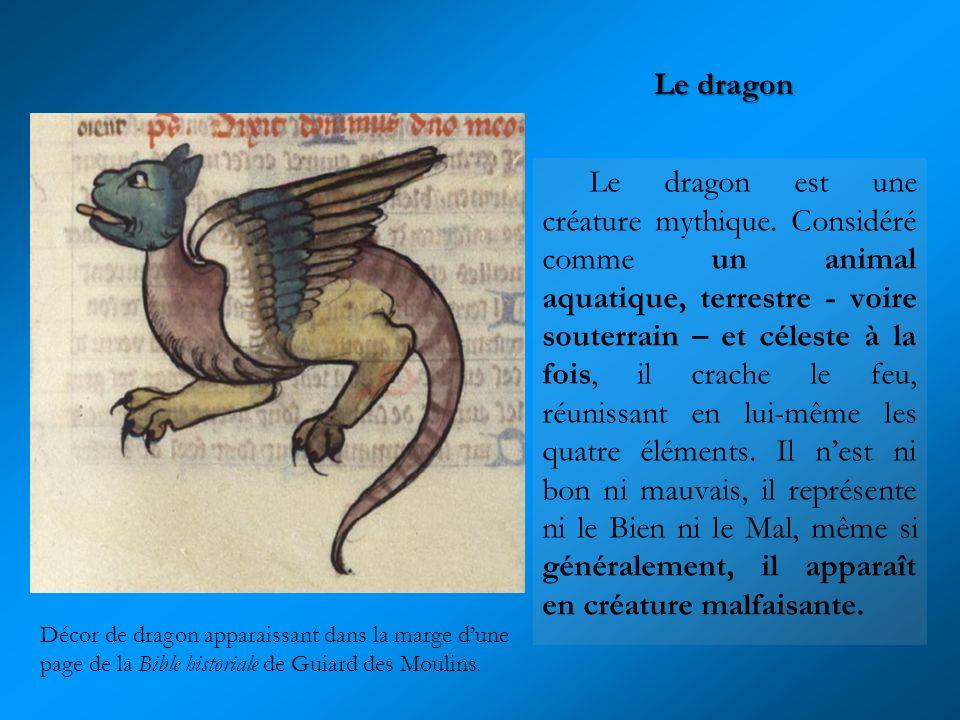Le dragon est une créature mythique. Considéré comme un animal aquatique, terrestre - voire souterrain – et céleste à la fois, il crache le feu, réuni