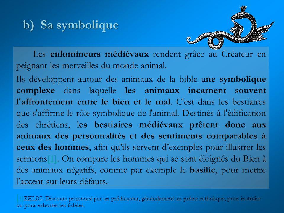 On le trouve aussi représenté avec le corps dun serpent à quatre têtes, comme ici dans cette Bible écrite au Moyen âge.