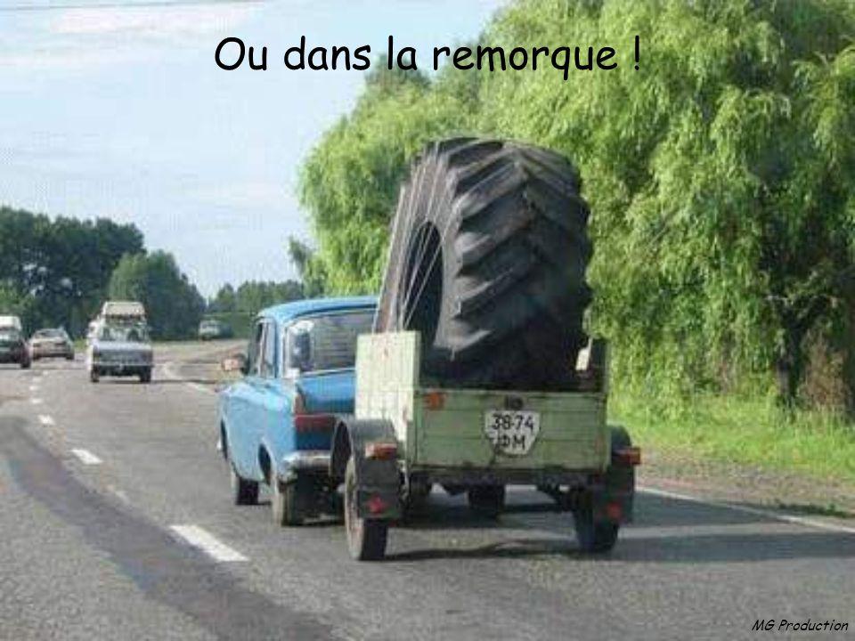 MG Production Pour la roue de secours : 2 solutions Dans le coffre …
