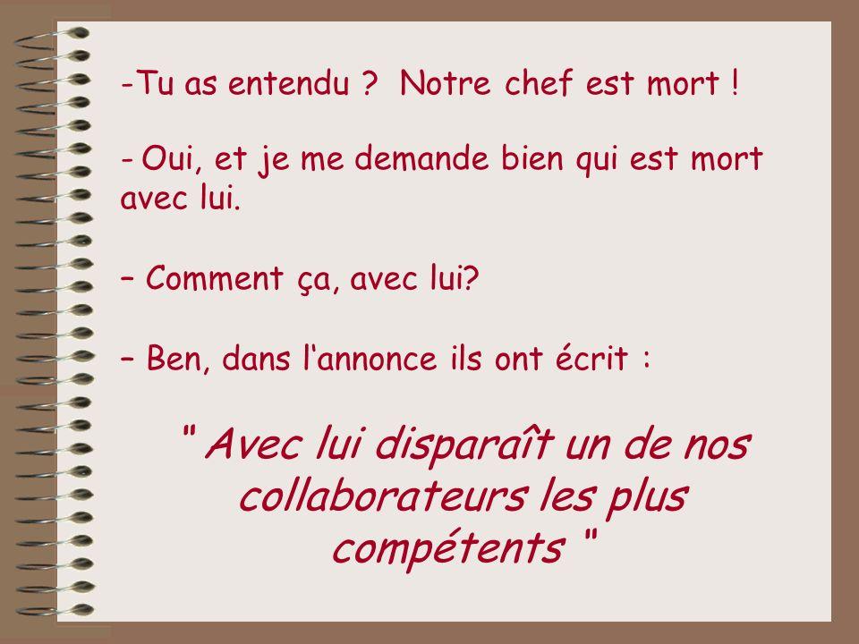 Donc, voici des exemples bien français …