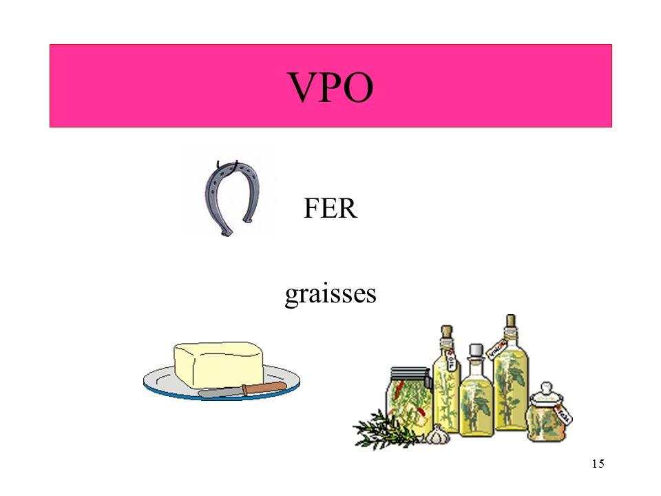 15 FER graisses VPO