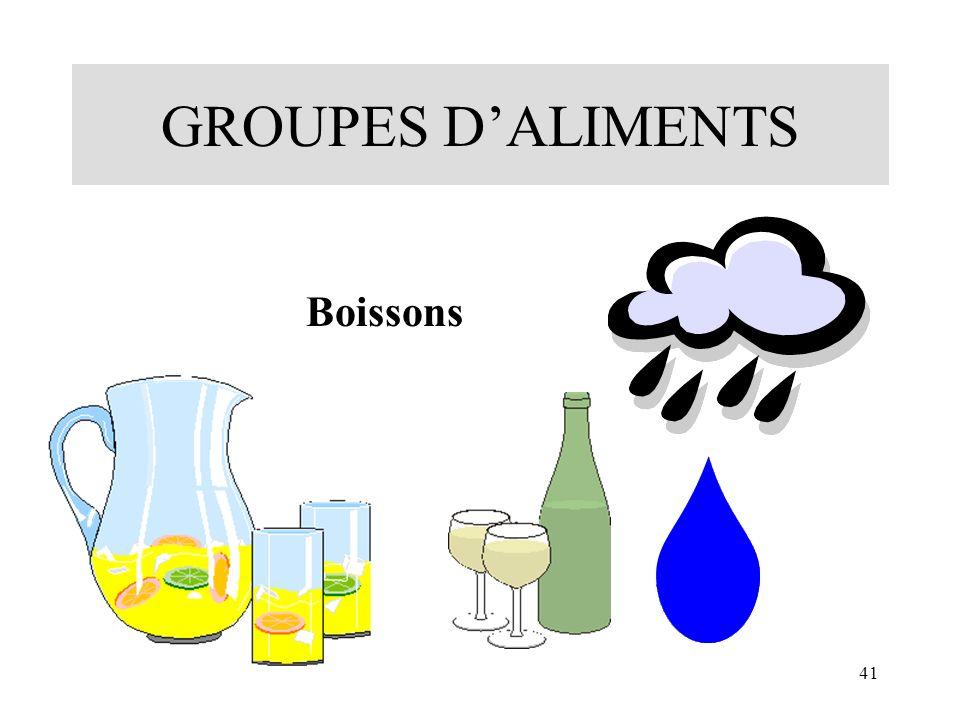 41 GROUPES DALIMENTS Boissons
