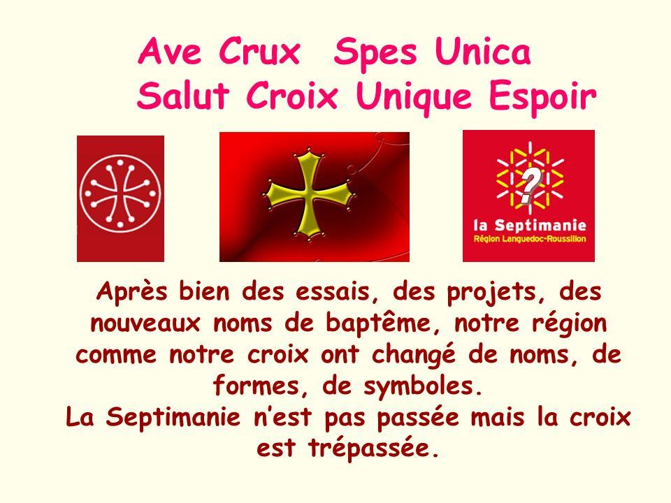 Ave Crux Spes Unica Salut Croix Unique Espoir Après bien des essais, des projets, des nouveaux noms de baptême, notre région comme notre croix ont cha