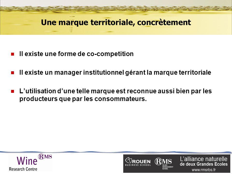 Une marque territoriale, concrètement n Il existe une forme de co-competition n Il existe un manager institutionnel gérant la marque territoriale n Lu