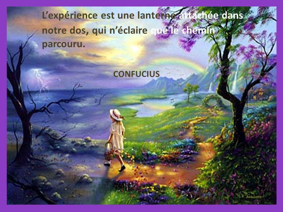 Lexpérience est une lanterne attachée dans notre dos, qui néclaire que le chemin parcouru.