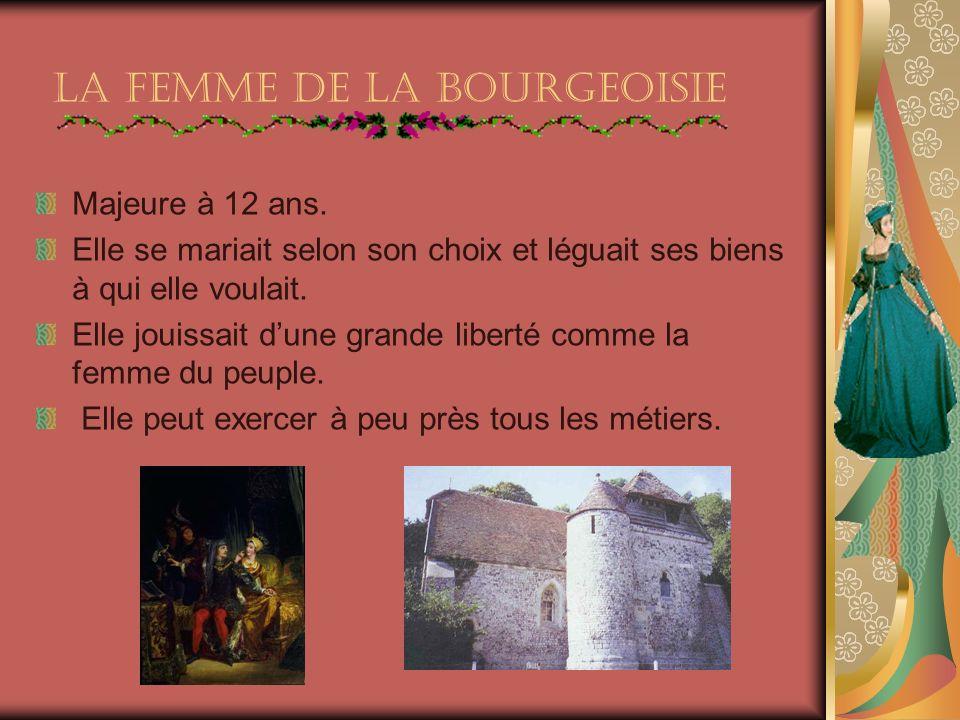 La femme De la Bourgeoisie Majeure à 12 ans.