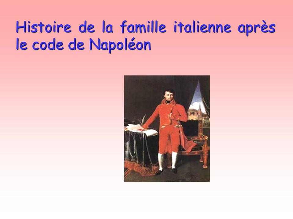 Histoire de la famille italienne après le code de Napoléon