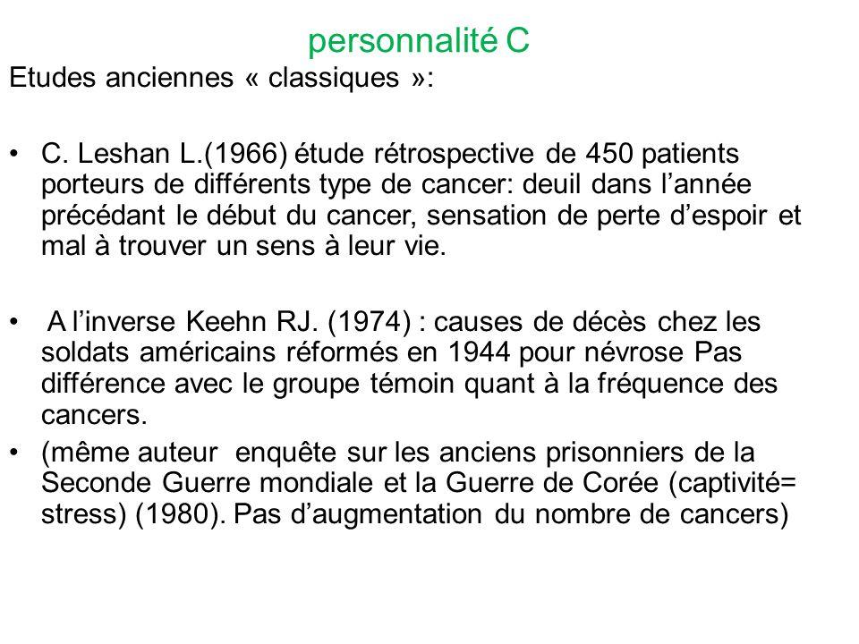personnalité C Etudes anciennes « classiques »: C.