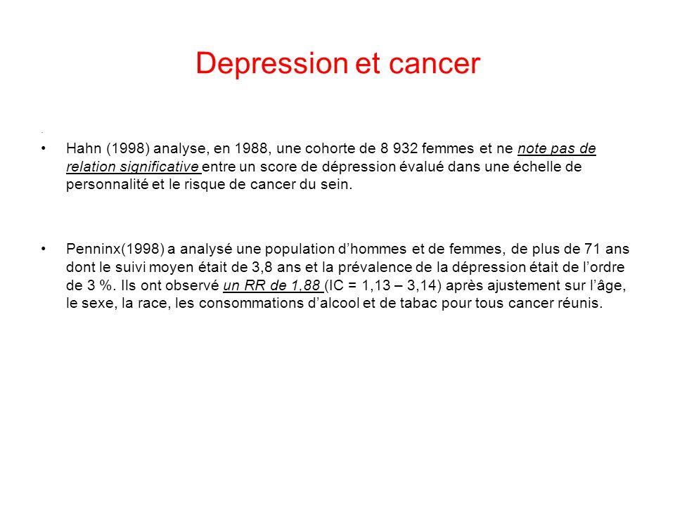 Depression et cancer.