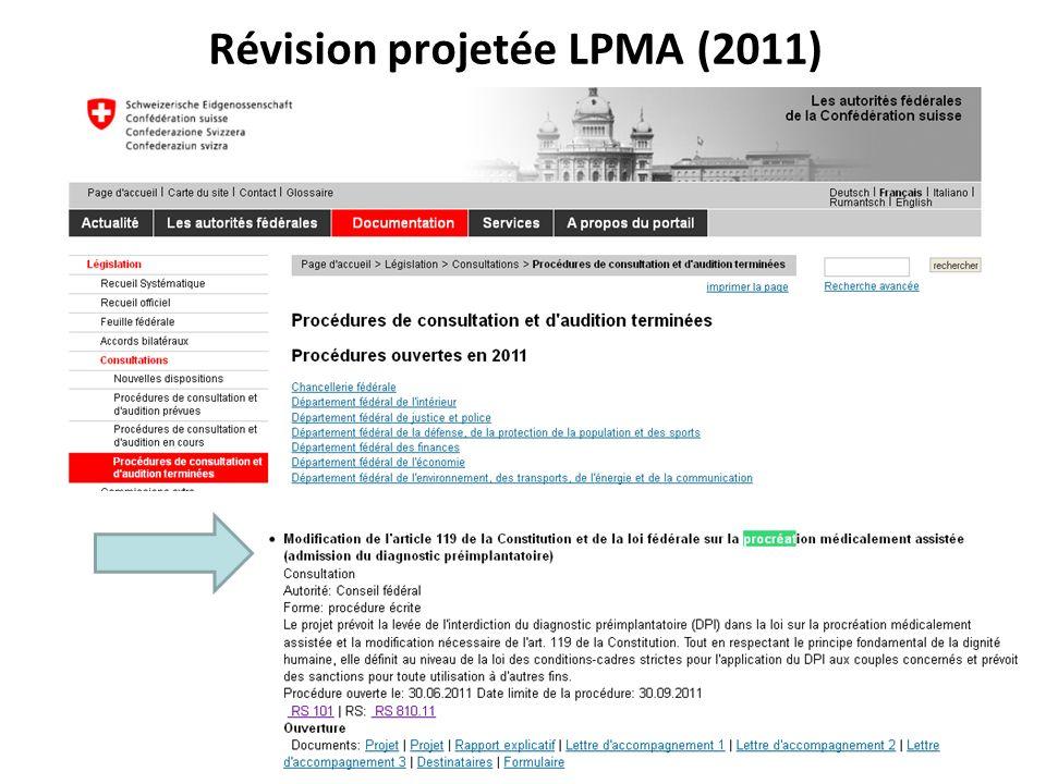 Révision projetée LPMA (2011) RNT - Prof. Junod - Leçon 7 (2.4.2012) 9